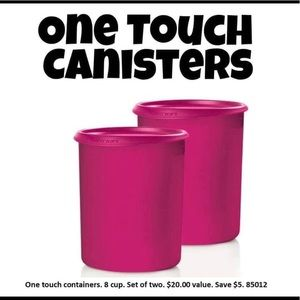 2 Piece One touch Canisters